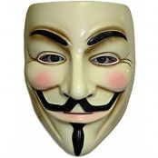Guy Fawkes - Licensierad V för Vendetta Mask