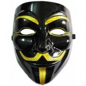 Guy Fawkes - V for Vendetta-Mask - Svart