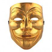 V For Vendetta Guld Mask - One size