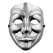 V For Vendetta Mask Silver - One size