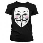 V For Vendetta Girly T-shirt, Girly T-Shirt