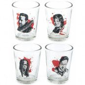 4 stk The Walking Dead Shotglas