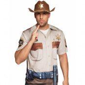 Highway Sheriff T-Shirt med Fotorealistiskt Tryck