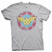 Wonder Woman Distressed Logo T-Shirt, Basic Tee