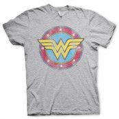 Wonder Woman Distressed Logo T-Shirt, T-Shirt