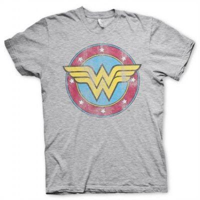 Wonder Woman Distressed Logo T-Shirt, Basic Tee