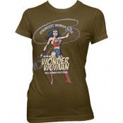 Wonder Woman - Strongest Woman Alive Girly Tee, T-Shirt