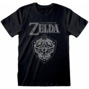 Legend Of Zelda - Distressed Shield T-Shirt