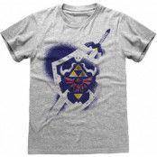 Legend Of Zelda - Shield T-Shirt Grey