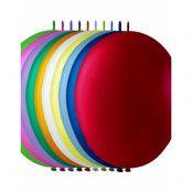 LINK Ballonger i Blandade Färger 25 cm - 100 stk MEGAPACK