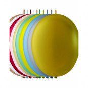 LINK Ballonger i Blandade Metalliska Färger 25 cm - 100 stk MEGAPACK