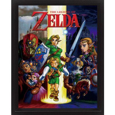 the Legend of Zelda 3D Poster