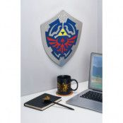 Zelda Glow In The Dark Hylian Shield Väggdekoration