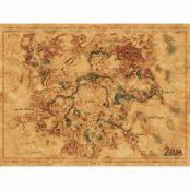 Zelda, Maxi Poster - Hyrule karta
