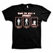 How To Kill A Zombie T-Shirt, Basic Tee