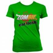 Zombie - Eat Flesh Girly Tee, Girly Tee