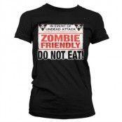 Zombie Friendly Girly T-Shirt, Girly T-Shirt