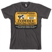 Zombie Hunting Permit T-Shirt, Basic Tee