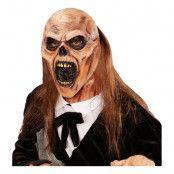 Dödgrävar Zombie Mask med Hår - One size