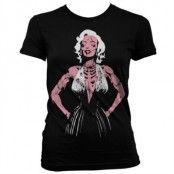 Zombie Monroe Girly T-Shirt, Girly T-Shirt