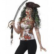 Zombie Pirat Fotorealistisk T-shirt för Dam