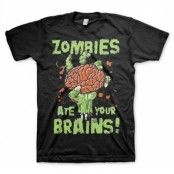 Zombies Ate Your Brain T-Shirt, Basic Tee