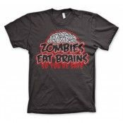 Zombies Eat Brains T-Shirt, Basic Tee