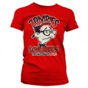 Zombies Loves Nerds Girly T-Shirt, Girly T-Shirt
