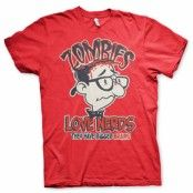 Zombies Loves Nerds T-Shirt, Basic Tee