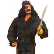 Svart Pirat/Zorro-Skjorta