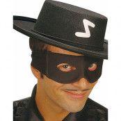 Svart Zorro Ögonmask med knytning